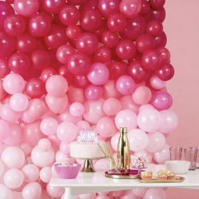 Ballong-Vegg Rosa Ombre