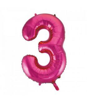 Folieballong rosa tall Nr. 3