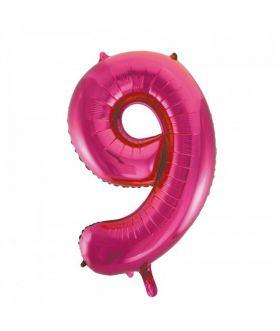 Folieballong rosa tall Nr. 9