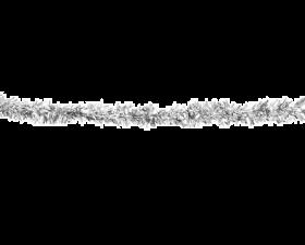 glitrende sølv girlander
