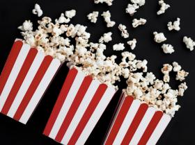 Popcornbeger, Klassisk Rød, 6 stk
