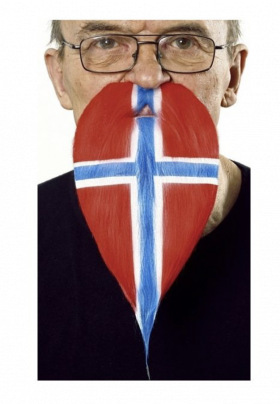 Skjegg i flaggfarge Norge