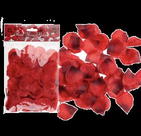 Røde roseblader, 150 stk.