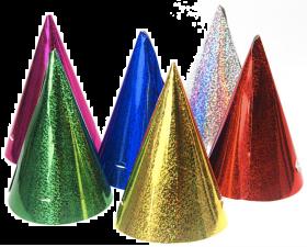 Partyhatter Holografisk Mix, 20 stk