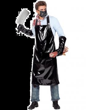 Slakterforkle med maske og hansker