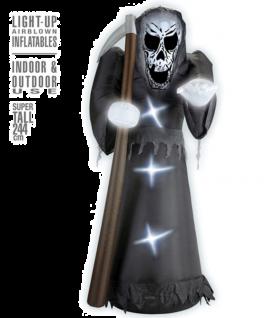 Oppblåsbar Grim Reaper m/lys, 244cm