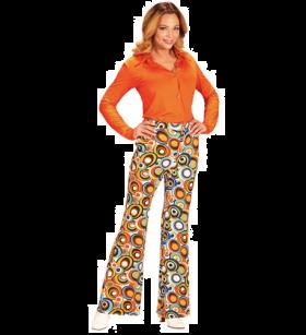Groovy 70-talls bukse, Oransje
