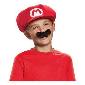 Super Mario hatt og bart til barn