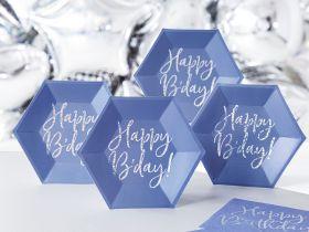 Happy Bday Asjett Blå, 6 stk