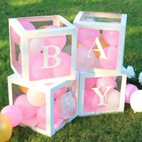 Balloon Boxes 4 stk Baby/Love
