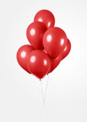 Ballonger Rød, 30 cm, 25 stk