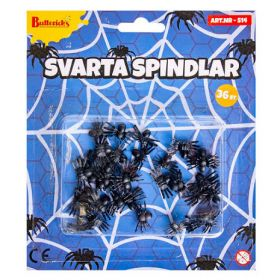 Sorte, små edderkopper