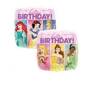Folieballong Happy Birthday, Disney Prinsesse